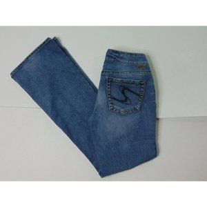 Silver Jeans 29x34 Suki Boot Cut Blue Jeans Denim